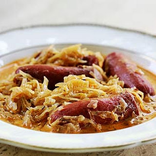 Franks and Sauerkraut Paprikash