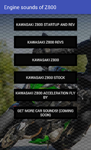 Engine sounds of Kawasaki Z800 screenshot 1