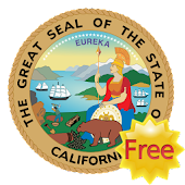 California 3D Flag Free