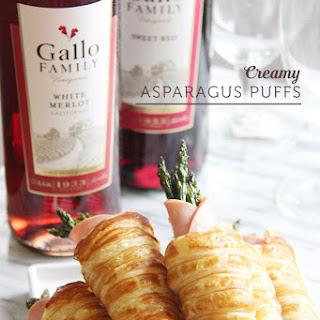 Creamy Asparagus Puffs #GalloFamily #SundaySupper.
