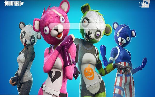 Creepy Bear Fortnite Google Chrome Theme