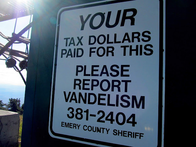 A warning to vandels in Garfield County