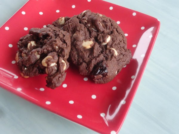 Chocolate Cherry And White Chip Cookies Recipe
