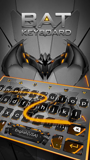 Neon Bat Hero Keyboard Theme for PC