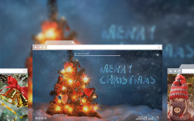 Festive Holiday Wallpaper Image Every Time You Open A New Tab Celebrating Christmas Themes With Animation Snow And Music