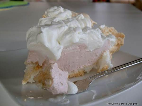 Pom-cranberry Mousse In A Meringue Shell--light And Tasty! Pom-cranberry Angel Pie