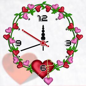 Heart clock live wallpaper free