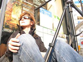 Photo: Nur ich bin alleine ... Selbstporträt beim Videodreh.