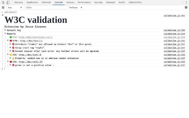 W3c Validator Chrome Web Store