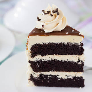 Chocolate Cake with Salted Caramel Frosting.