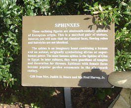 Photo: info about the sphinxes