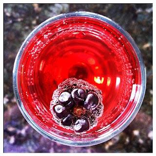 Pomegranate Champagne Fizz.
