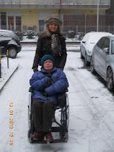 Photo: 12. 01. 2013 roku -   idziemy z Moniką  Kubiak  na zimowy spacer