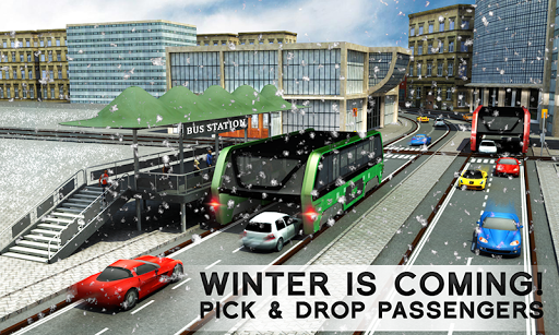 Elevated Bus Simulator: Futuristic City Bus Games 2.4 screenshots 1