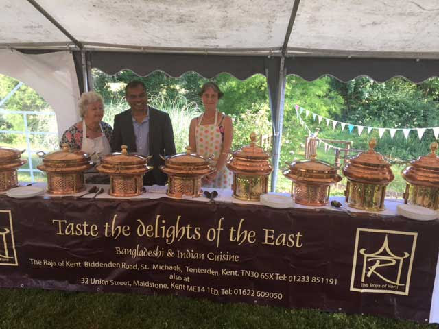 The Raja of Kent outside catering Tenterden
