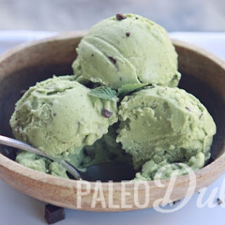 Spinach & Avocado Mint Chip Ice Cream