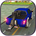 Car Tow Truck Transporter 3D icon