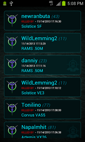 android Killboard - Planetside 2 Screenshot 2