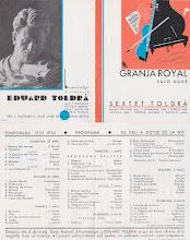 Photo: Saló Doré - Granja Royal - Program Sextet Toldrà 1933-34