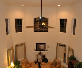 Photo: (Before) Family room Fireplace and windows - KJ's Downigtown, PA