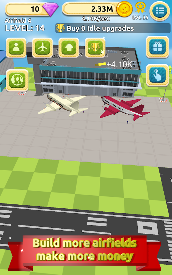 Airfield Tycoon Clicker Game- screenshot