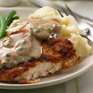 Chicken Breasts with Creamy Mushroom Gravy.