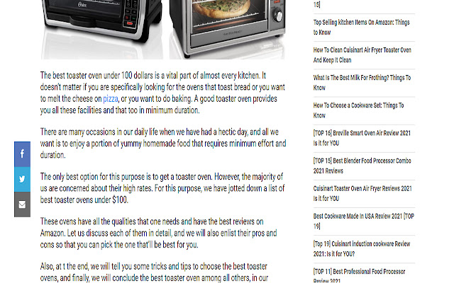 Toaster Oven Reviews - Best Toaster Oven