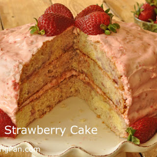 Fresh Strawberry Cake No Gelatin Recipes