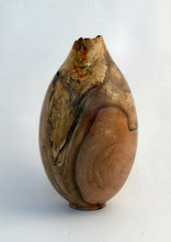 "Photo: Michael Colella - Partially Hollowed Vessel - 4"" x 8"" - Spalted Dogwood"