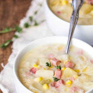 Slow Cooker Ham, Corn and Potato Soup