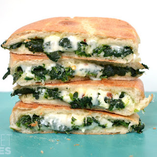 Spinach Feta Grilled Cheese.