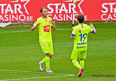 Gent doet weer helemaal mee in Europese race, KV Oostende kansloos na rode kaart voor Hubert