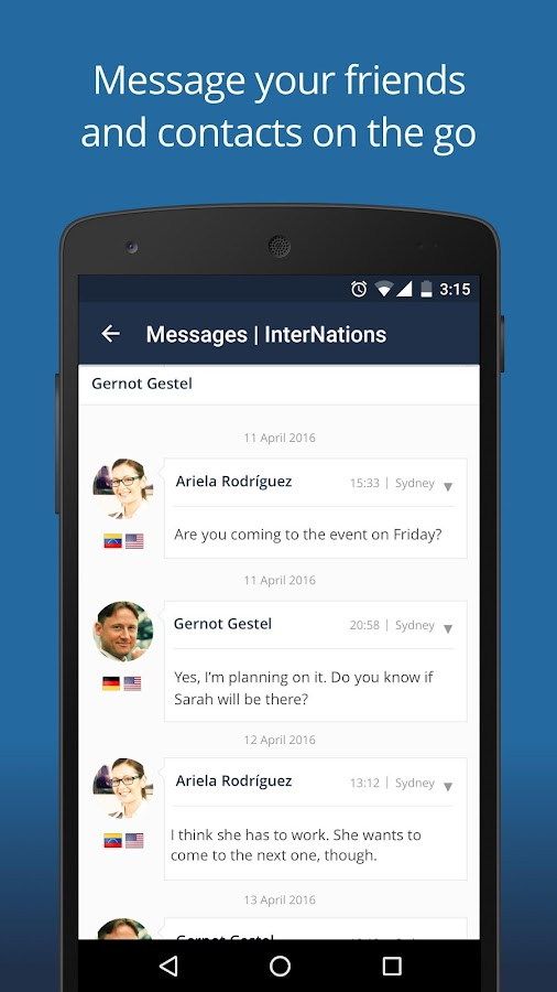 InterNations- screenshot