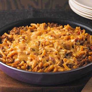Cheesy Macaroni-Beef Skillet.