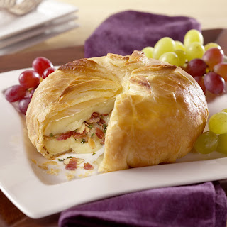 Brie and Bacon in Pastry.