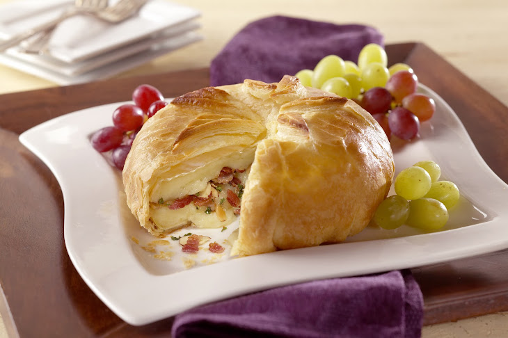 Brie and Bacon in Pastry Recipe