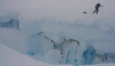 Photo: crevasses on Seward Glacier