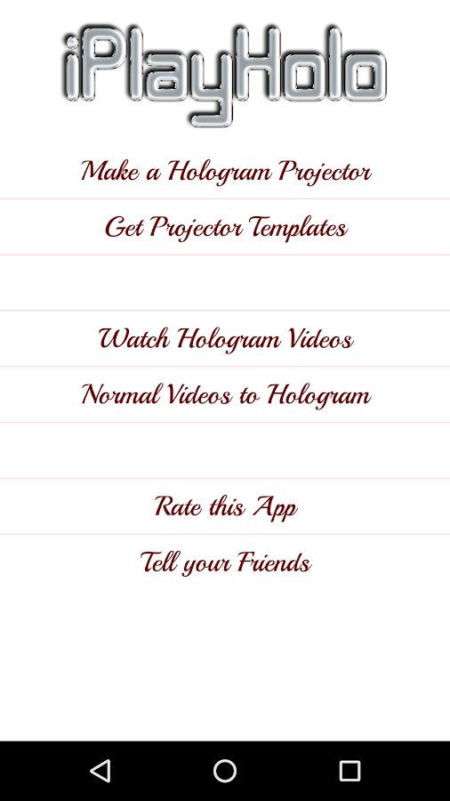 iPlayHolo: Holographic 3D Viewer for YouTube Video- screenshot
