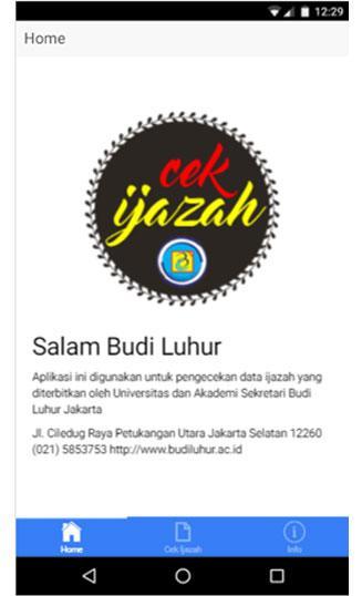 Cek Ijazah Budi Luhur Mobile