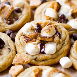 Toasted S'more Chocolate Chip Cookies