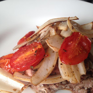 Flank Steak with Roasted Tomatoes and Onions – WLS