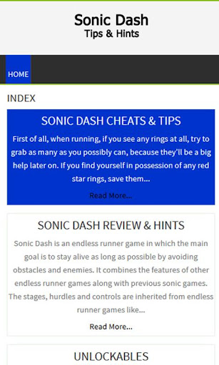 Unofficial Sonic Dash Guide