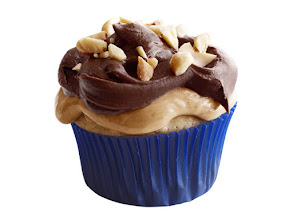 Photo: Get the recipe for Peanut Cupcakes with Nougat-Chocolate Frosting >> http://ow.ly/hXHNw