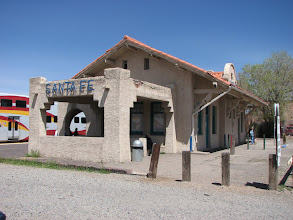 Photo: The 1880 station in Santa Fe.  Santa Fe is is a great art and soutwest architecture destination.  The Georgia O'Keefe museum is here.