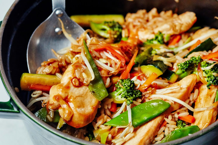 One-Pot Chicken Teriyaki with Vegetables & Rice Recipe