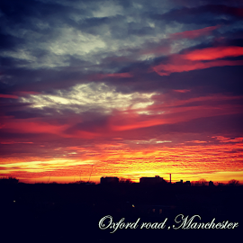 Oxford skies by Jude Rosario - Typography Captioned Photos ( cloud formations, sky, sunset, beautiful, oxford, skies, fire,  )