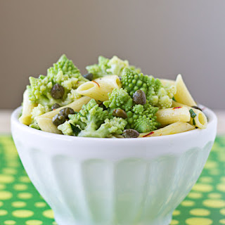 Pasta Salad with Romanesco, Capers, and Saffron