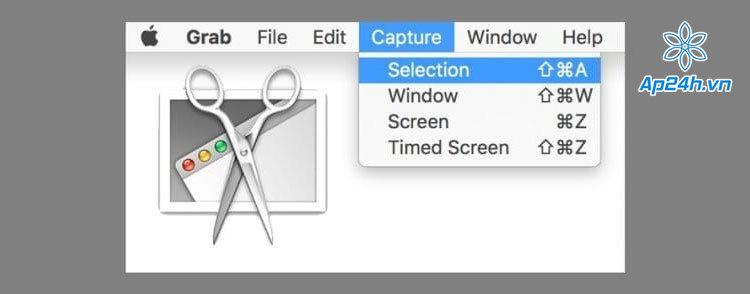 Nhấn vào Capture trên TaskBar để chọn cách chụp
