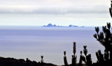 Photo: Farallon Islands seen from Limantour Road on an exceptionally clear day -- M.A. Nicolaus