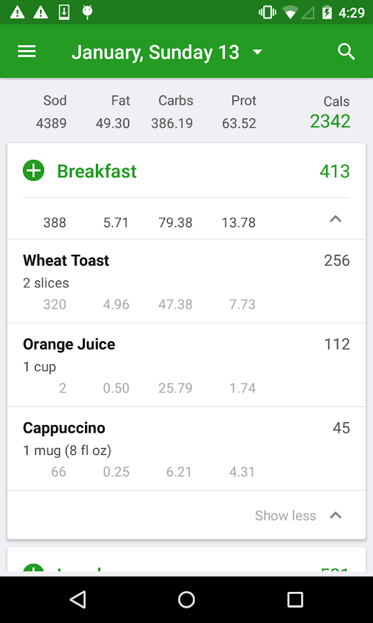 Screenshots of Calorie Counter by FatSecret for iPhone